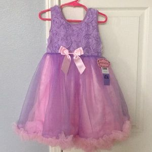 Lilac and pink tulle dress